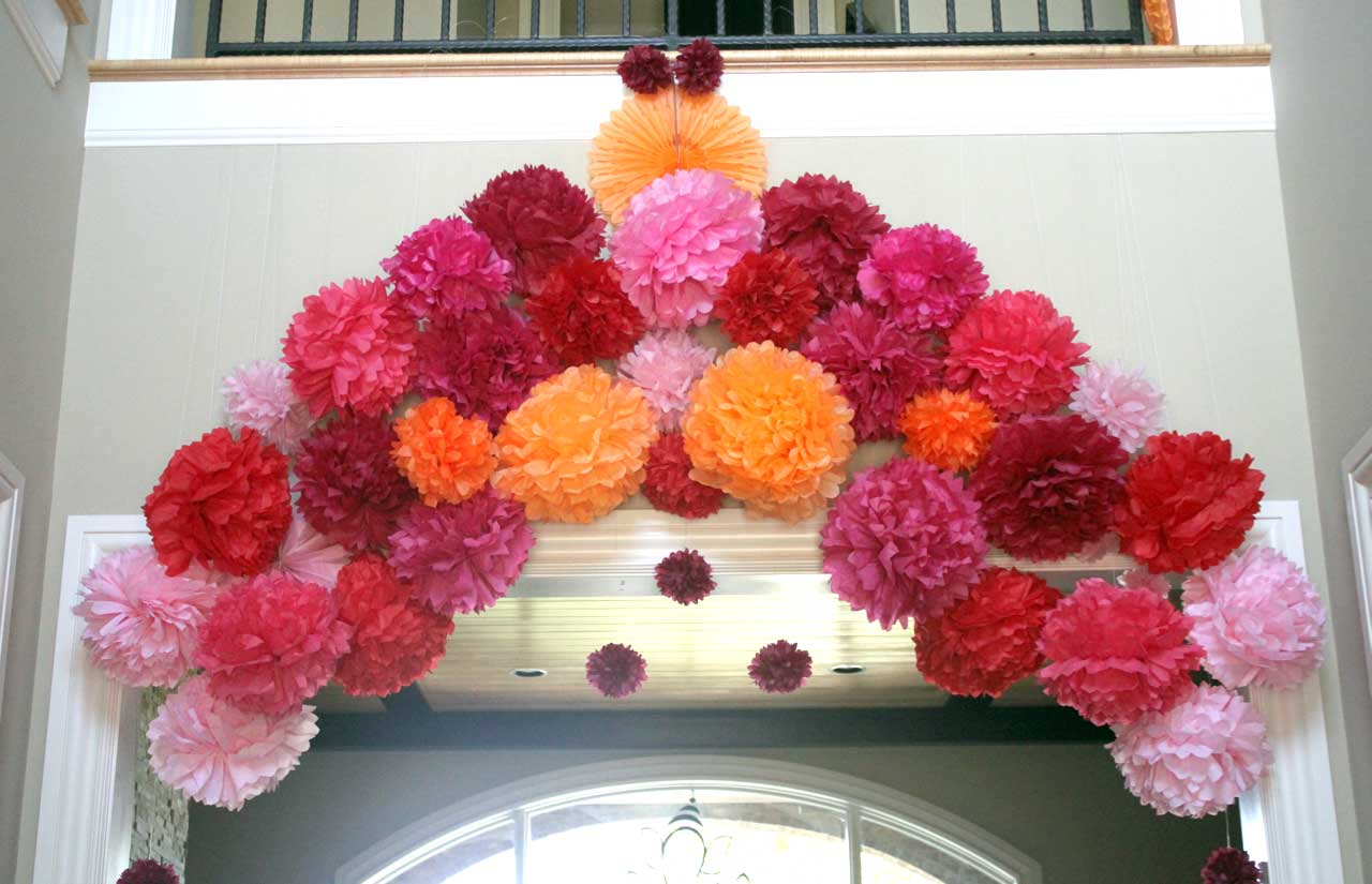 Diwali decorations pom poms