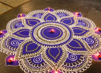 DIY Rangoli Tutorial Lesson